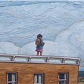 detail: girl on roof close up - girl on roof close up