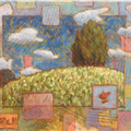 Landscape with Airship - 
