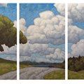 red balloon triptych - 